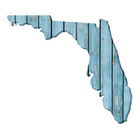 Florida Faux Wooden wall decal