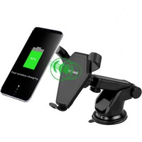 For iPhone Samsung Qi Wireless Charger Fast Charging Wireless Car Charger for iPhone X Mobile Phone Charger with Car Holder
