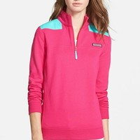 Women's Vineyard Vines 'Shep' Logo Quarter Zip Pullover