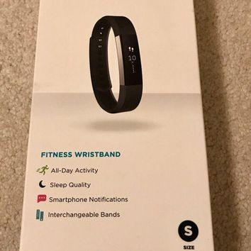DCK4S2 Fitbit Alta Watch Everyday Fitness Activity + Sleep Tracker Small Black FB406BKS