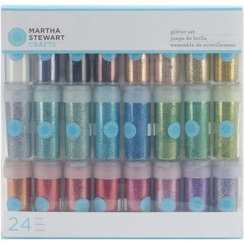 Martha Stewart Essential Colors Glitter Set