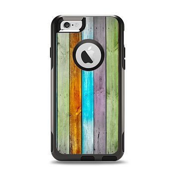 The Vintage Colored Wooden Planks Apple iPhone 6 Otterbox Commuter Case Skin Set