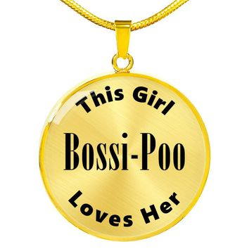 Bossi-Poo - 18k Gold Finished Luxury Necklace