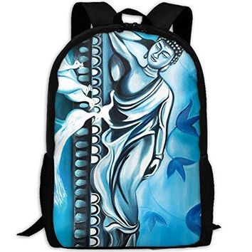 YesFutureIs Female School Bags Spa Decor Asian Buddha Lotus Zen Daypack For Adult Casual Style Travel Daypack