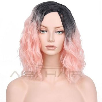 """I's a wig"" Synthetic Wigs for Women 14""Long Water Wave"
