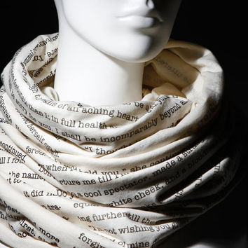 Wuthering Heights book on the scarf  Scarf  by EnigmaScarves
