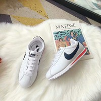 """Nike Cortez"" Unisex Casual Fashion Multicolor Leather Running Shoes Couple Retro Sneakers"
