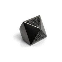 nOir Jewelry - Sided Pyramid Ring, Black