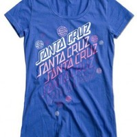 Santa Cruz Womens Bubble T-shirt Blue