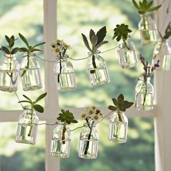 Recycled Bottle Garland