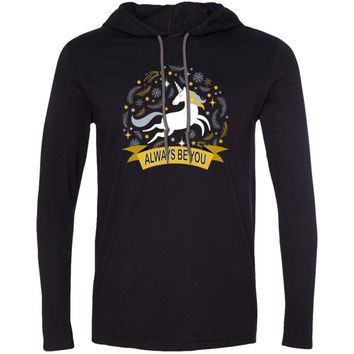 Always Be You Unicorn 987 Anvil LS T-Shirt Hoodie