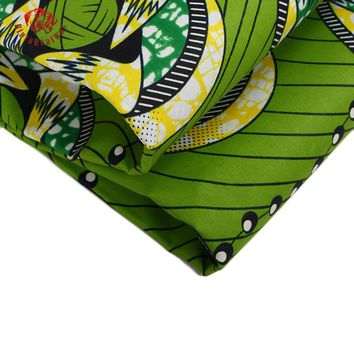 Ankara African Polyester Wax Prints Fabric Super Hollandais Wax High Quality 6 yards African Fabric for Party Dress