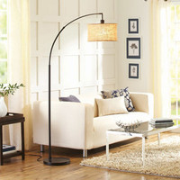 Walmart: Better Homes and Gardens Burlap Bronze Arc Floor Lamp with CFL Bulb Included