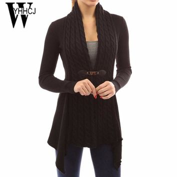 WYHHCJ 2017 new warm autumn and winter sweater long sleeve crochet patchwork cardigan women casual v-neck pull femme sweaters