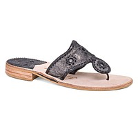 Stardust Sandal in Black by Jack Rogers