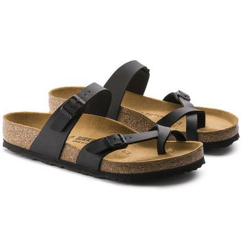 Newest Hot Sale Mayari Birkenstock 805 Summer Fashion Leather Beach Lovers Slippers Ca loveclubs