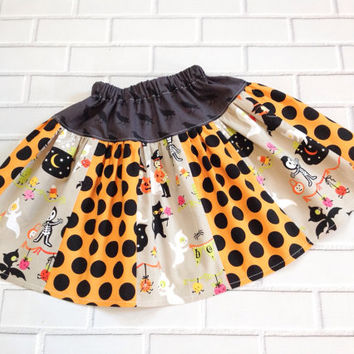 Halloween Skirt 3T Ready To Ship