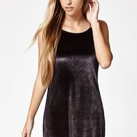Lisakai Goddess Neck Velvet Mini Dress at PacSun.com