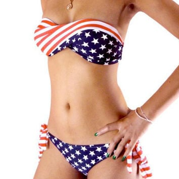 Summer Sexy New Arrival Hot Swimsuit Beach Bra Flag Swimwear Bikini [4923257028]