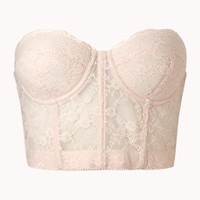 Cropped Strapless Lace Corset