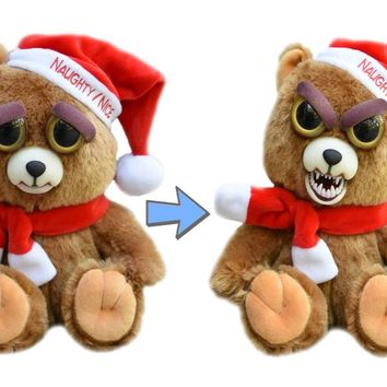 Feisty Santa Bear: Ebeneezer Claws Stuffed Attitude Plush