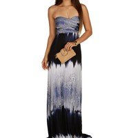 Navy Tie-dye Maxi Dress