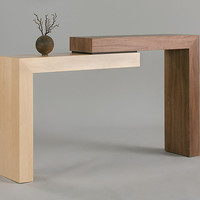 Stepped Table by Todd Leback: Wood Console Table - Artful Home