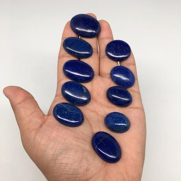 319cts, 10pcs,Natural Oval Shape Lapis Lazuli Cabochons @Afghanistan,Lot117