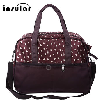 2017 Women Bag Waterproof Mummy Tote Bags Heart Print Diaper Bag Multifunctional Ladies Shoulder Bag Brand Mother Nappy Handbag