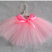 CUTE pink  lace skirt Small Pet Dog Cat puppy Clothes dress size  M