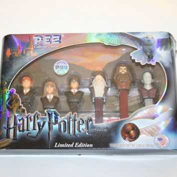 Licensed cool Harry Potter Character 6 PEZ Dispenser Set LE 021785 Collector's Series & Candy