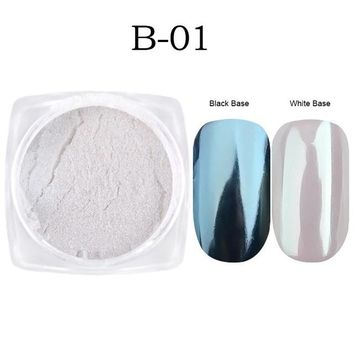 1g Mirror Glitter Nail Chrome Pigment Dazzling DIY Salon Micro Holographic Powder Laser Nail Art Decorations Manicure CHB01-07