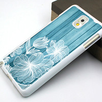 samsung note 3 case,rubber samsung cover,blue wood flower image samsung note 4 case,beautiful galaxy s3 case,elegant galaxy s3 case,blue wood floral galaxy s4 case,old wood grain flower galaxy s5 case