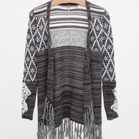 Gimmicks by BKE Fringe Cardigan Sweater