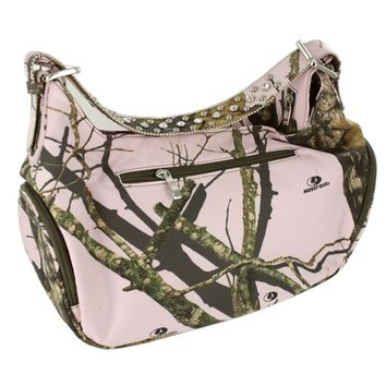 Nocona Women's Medium Pink Camo Purse