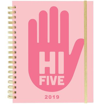 Hi Five! Large Wiro Agenda 2019 Planner in Pink