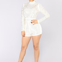 Tell Me About It Stud Romper - White