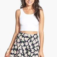 Lush Print Flared Skirt (Juniors)