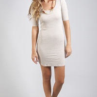 how you doin' knit dress - taupe