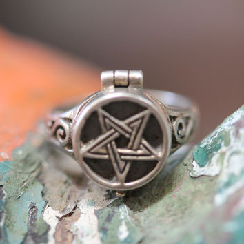 Sterling Silver Poison Vinaigrette Ring Star Boho