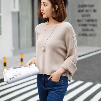 Flare Sleeve loose fit pullover