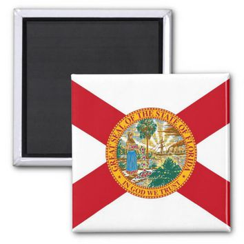 Magnet with Flag of Florida State - USA