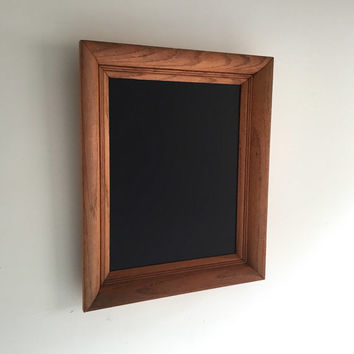 Vintage Wood Framed Chalkboard - Brown, Rustic, Antique, Office, Home, Kitchen, Beach Decor, Wedding, Engagement, Holiday, Reclaimed