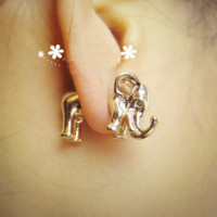 Fashion 3D Elephant Earrings&Studs