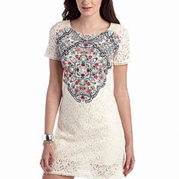 Red Camel® Medallion Lace Shift Dress - Belk.com