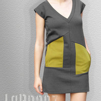 Grey Asymmetrical Dress by LaBronz on Etsy