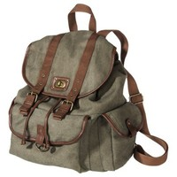 MOSSIMO SUPPLY CO. Green Large Capacity Solid Backpack
