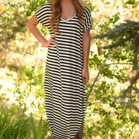 Limitless Maxi Dress- Black/White