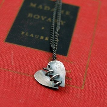 Made To Order Baby Franken Heart Sterling Silver by MarKhed
