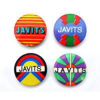 "Milton Glaser & Jason McWhorter ""Javits"" senate campaign pin back button collection, 1968."